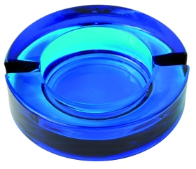 Glass ashtray blue a-29bl