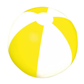 Inflatable beach ball - Yellow bb-10 y