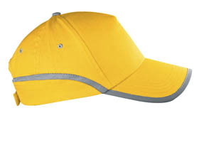 5 panel cap with reflective strip / yellow cr-030 y