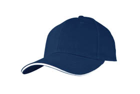 Sandwich type heavy brush cotton cap / blue cr-040 bl