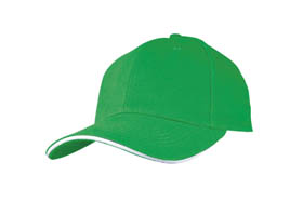 Sandwich type heavy brush cotton cap / green cr-040 g