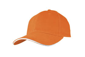 Sandwich type heavy brush cotton cap / orange cr-040 or