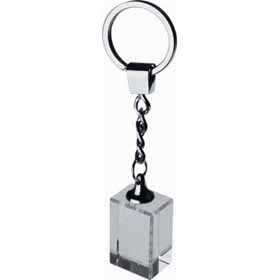 Glass cube keyring cr-055