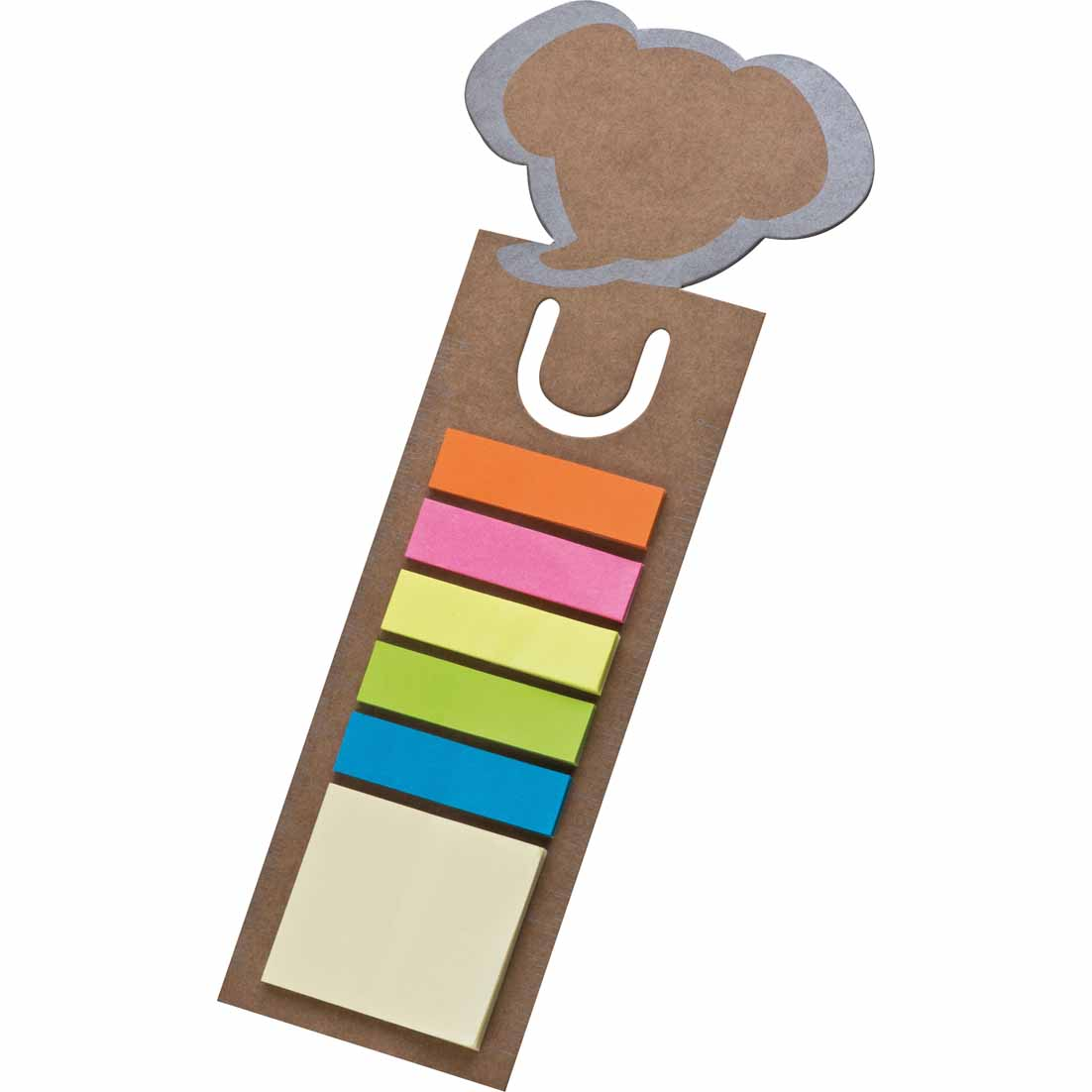Cute bookmark with elephant head offers five different colours of memo strips cr-152