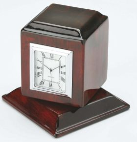 Executive clock in rotating polished  wooden case exe-10