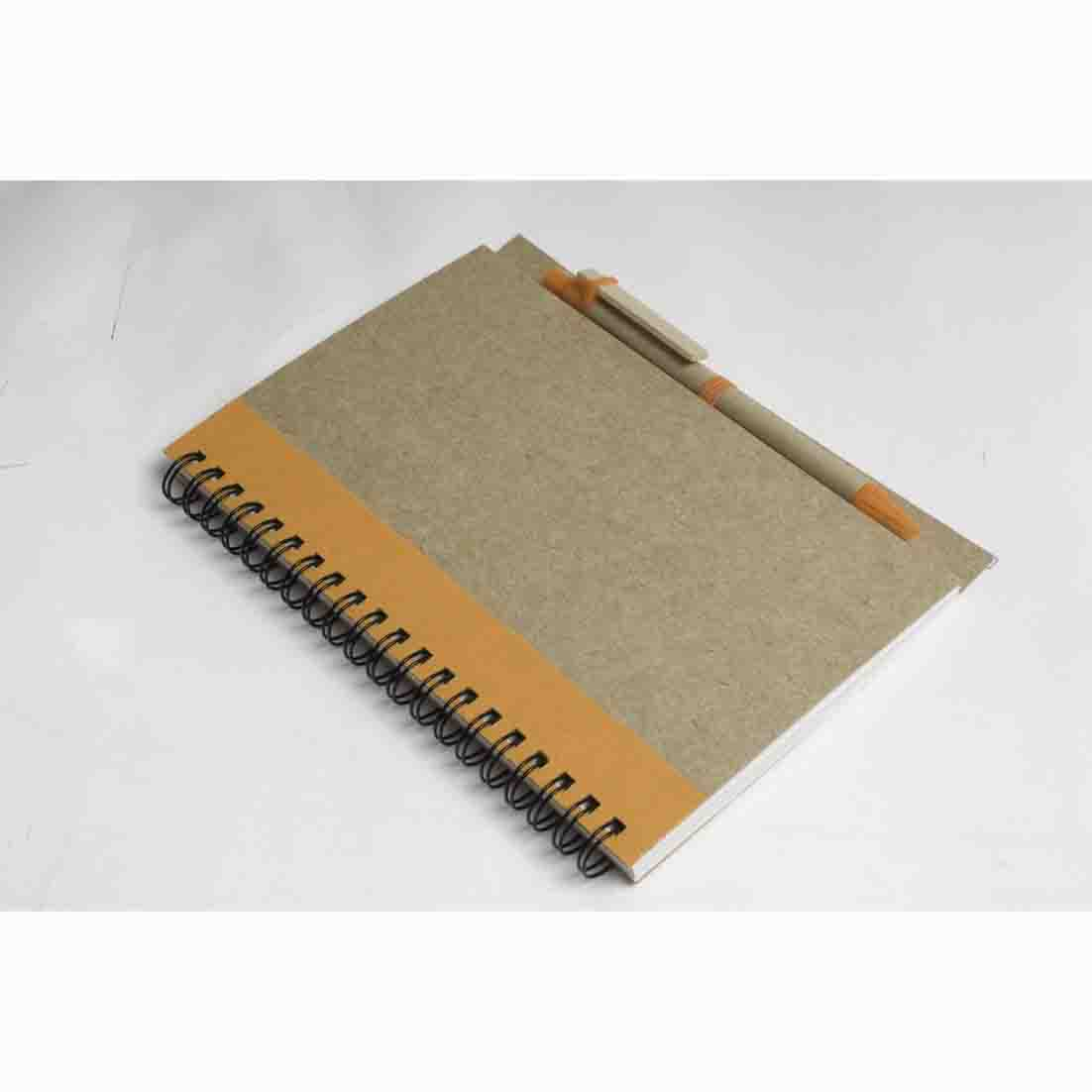 Recycled paper notebook with pen - orange gb-211 or