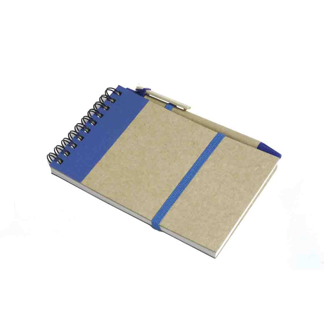 Recycled paper notebook with pen - royal blue gb-212 az