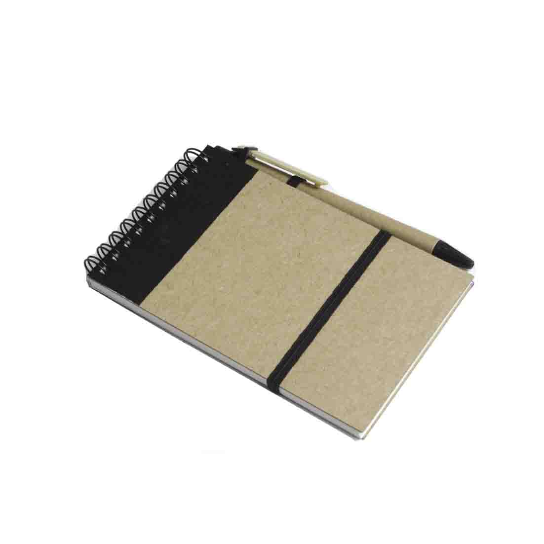Recycled paper notebook with pen - black gb-212 bk