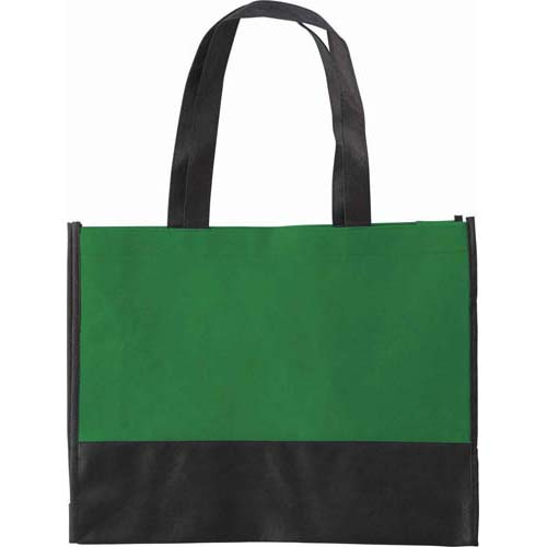 Non-woven shopping bag (80 g/m²) with long handles and gusset. - Green giv-097104