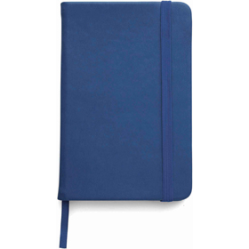 A5 Note book with a soft PU cover, one hundred lined pages - Blue giv-307605