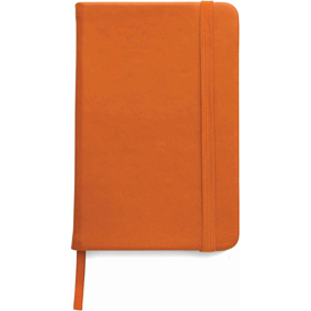A5 Note book with a soft PU cover, one hundred lined pages - Orange giv-307607