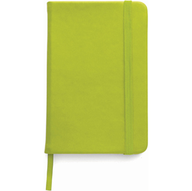 A5 Note book with a soft PU cover, one hundred lined pages - Pale green giv-307629