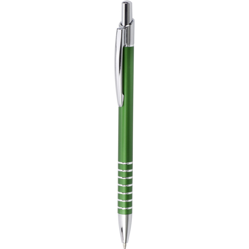 Aluminium ballpen with patterned grip - Pale Green giv-380829