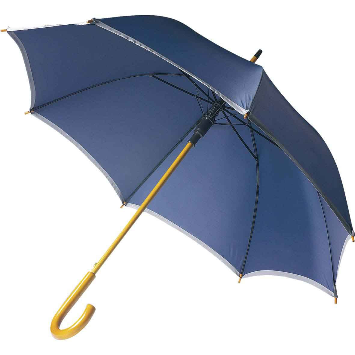 Automatic polyester umbrella (190T) with a wooden shaft - Blue giv-406805