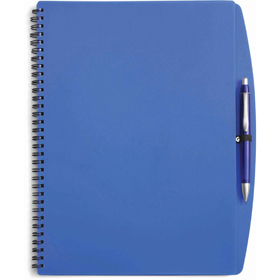 A4 Spiral bound PVC covered sixty five page notebook - Blue giv-514105