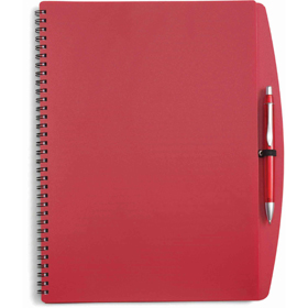 A4 Spiral bound PVC covered sixty five page notebook - Red giv-514108