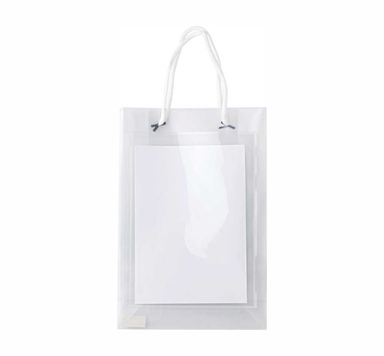 A5 polypropylene promotional/exhibition transparent bag  giv-6622