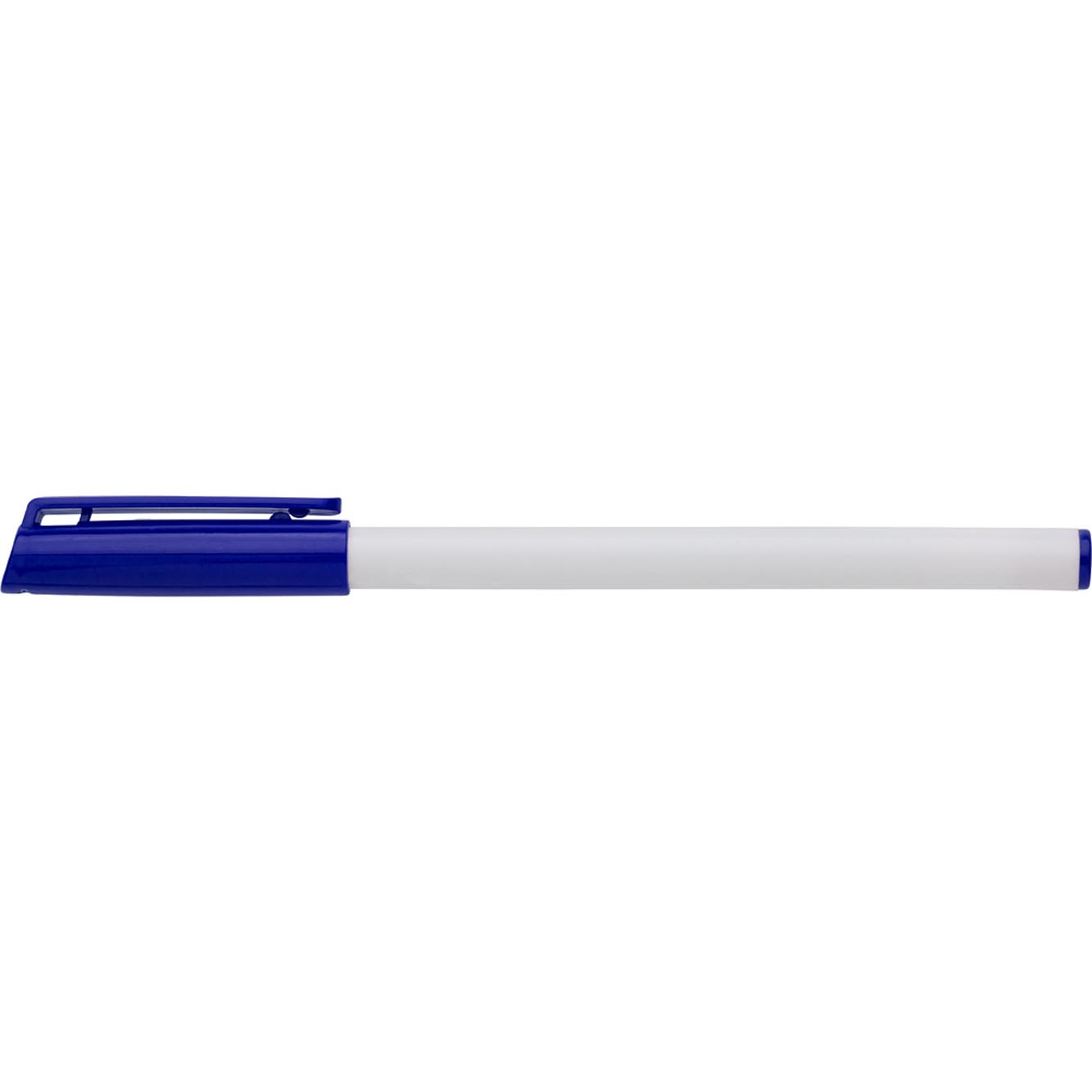 Ballpen with coloured top, cap and ink - Blue giv-729905