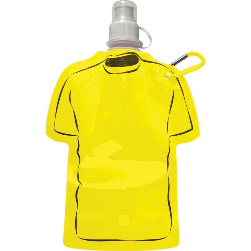 Foldable and leakproof PVC water bottle - Yellow giv-787706