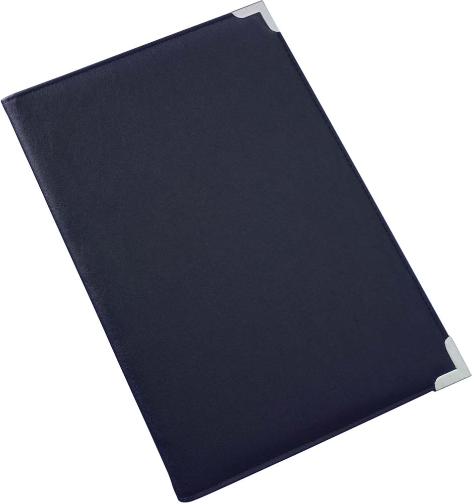A4 PU conference folder with gold or silver gift corners - Blue giv-862006