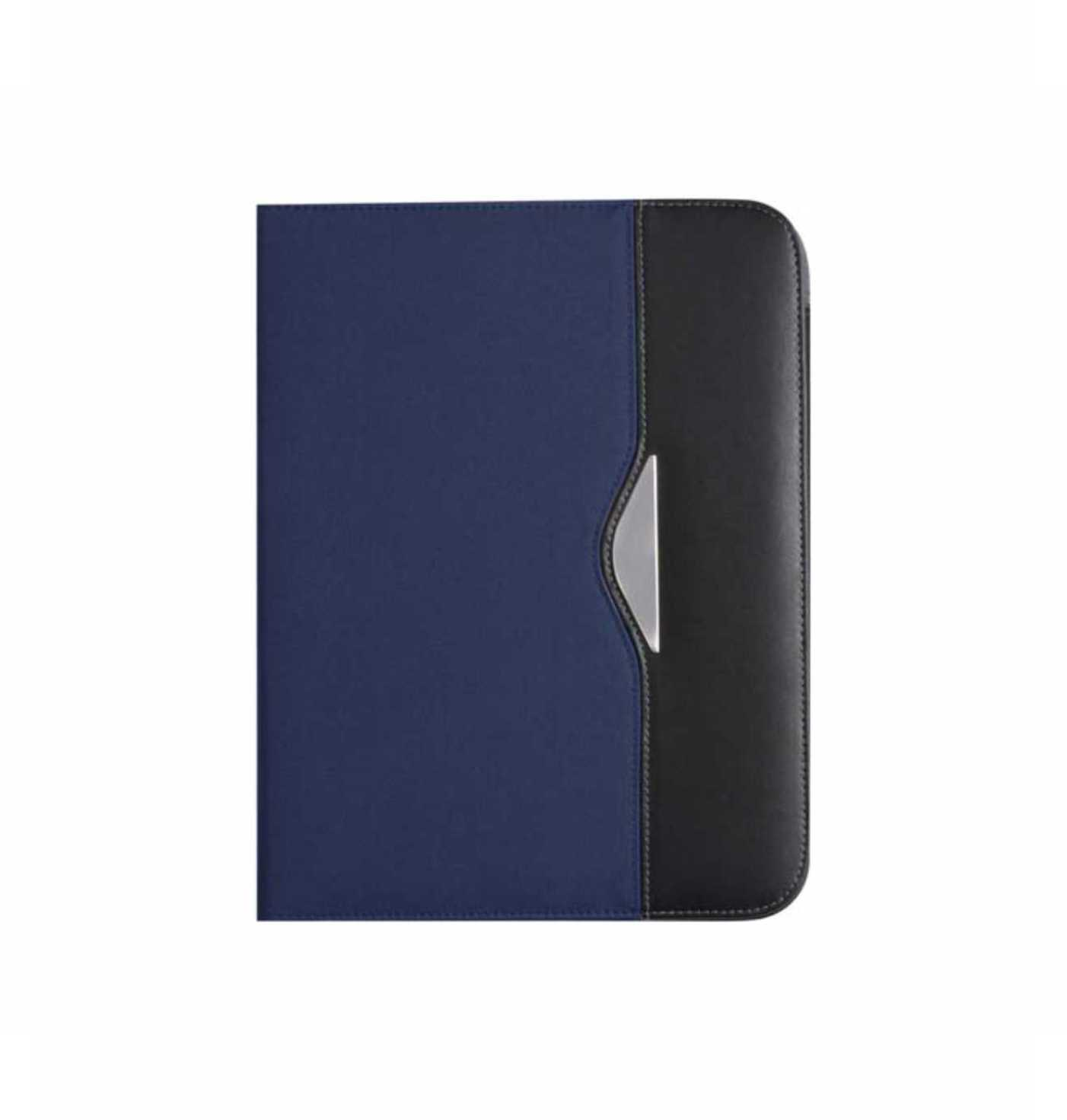 A4 nylon conference folder (70D) with two large internal pockets and two small business card pockets, nylon pen loop and a thirty page lined note pad. - Blue giv-866805