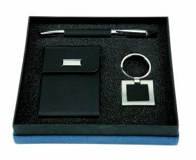 Card holder with keyring and pen set gs-160