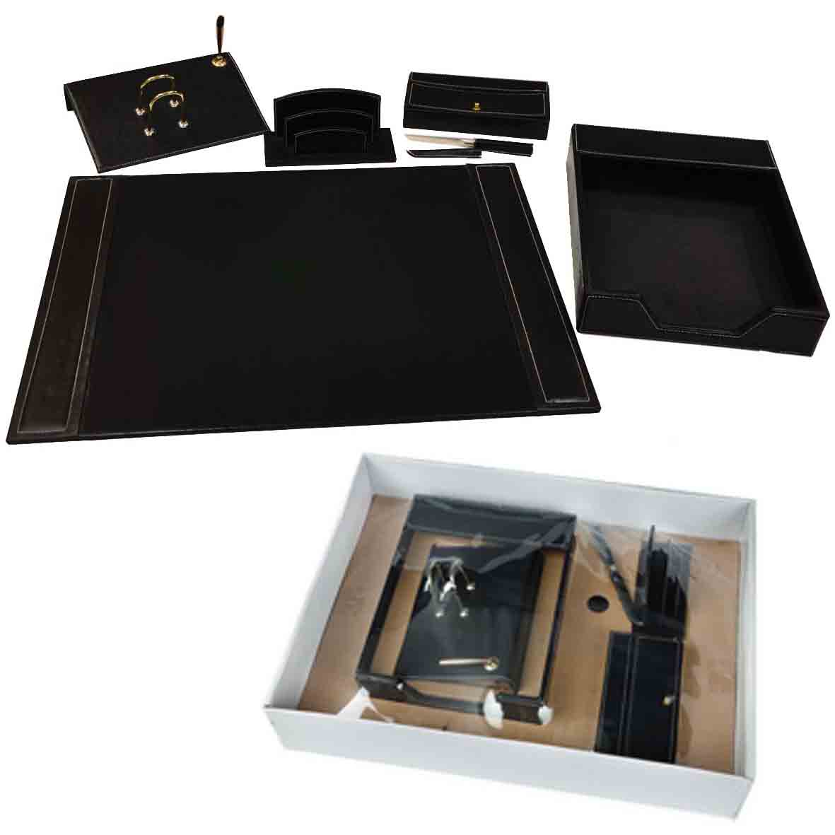 Elegant gift set with office pad Black gs-180