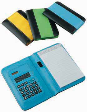 BI-COLOUR NOTEBOOK WITH CALCULATOR hl-3