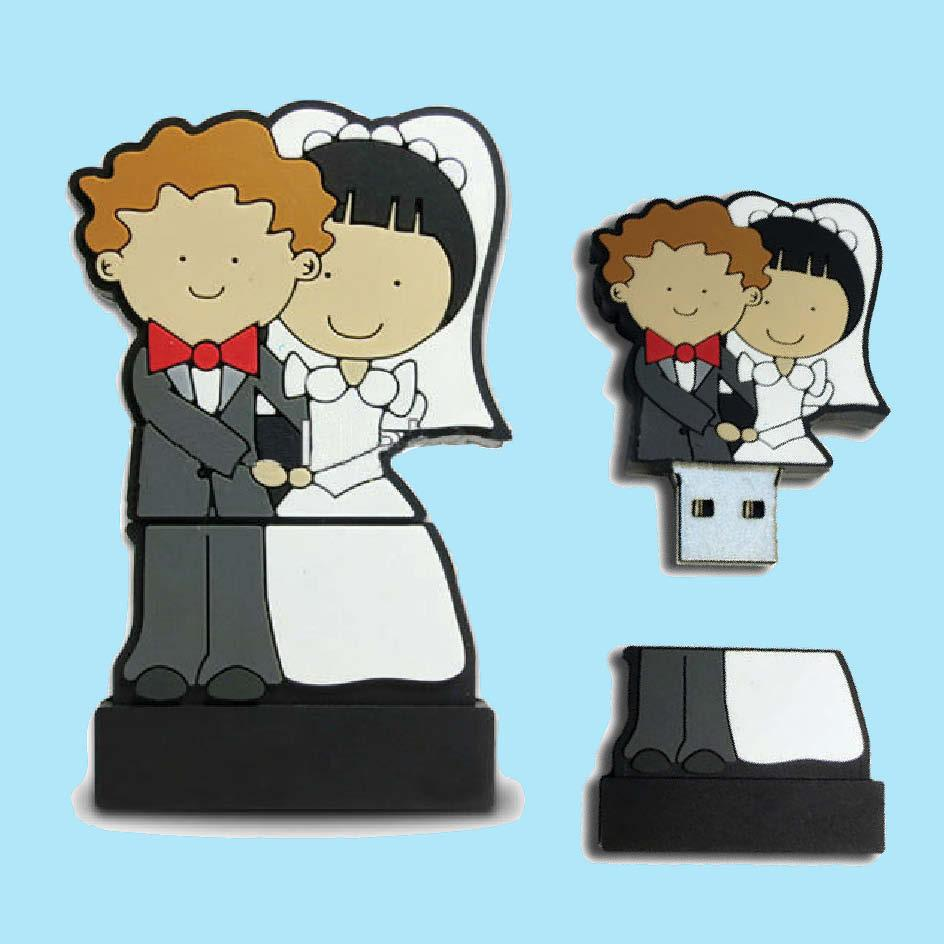 Bride & Groom 4GB usb memory stick ht-350