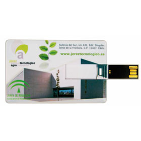 Card size USB flash drive in a white paper box ht-70