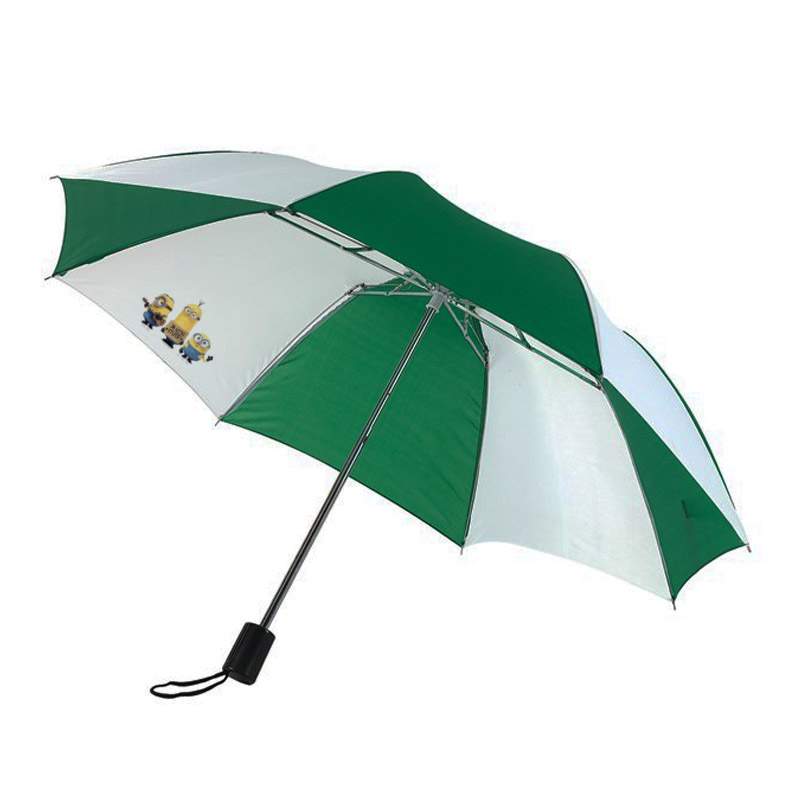 "Manual pocket umbrella ""Regular"" - Green / White ins-0101113 subl"