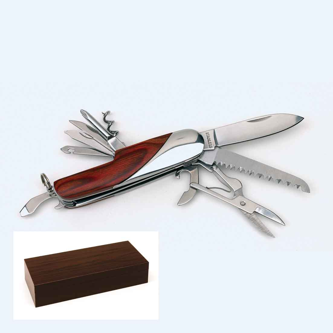 11 piece wooden pocket knife 'Forest' ins-0301002
