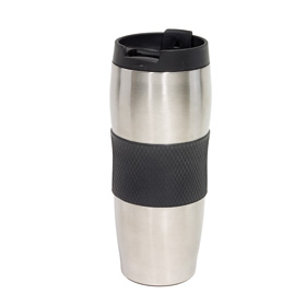 "Doubled-walled flask ""Au Lait"" - black/silver ins-0304133"