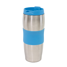 "Doubled-walled flask ""Au Lait"" - blue/silver ins-0304135"