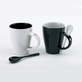 'BLACK & WHITE' 2 MUG SET ins-0340016