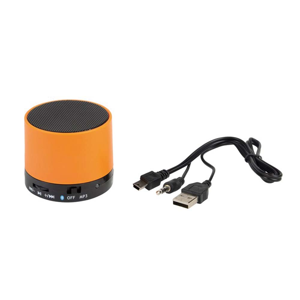 "Bluetooth speaker ""New liberty"": music output 3 watt, with bluetooth version 4.1, slot for micro SD card, incl. charging cable (from USB to Mini-USB and 3.5 mm line in connector),plays MP3, with hands-free communication, with FM radio function, integrated ins-0406275"