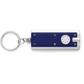 KEYRING WITH LIGHT - BLUE/SILVER ins-0407891