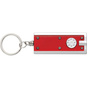 KEYRING WITH LIGHT - RED/SILVER ins-0407892