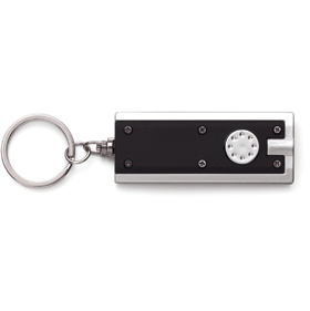 KEYRING WITH LIGHT - BLACK/SILVER ins-0407895