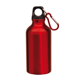 "Aluminium drinking bottle ""Transit"" - red ins-0603041"