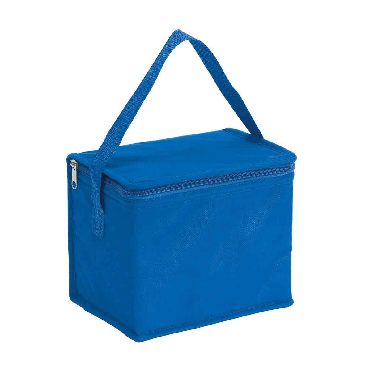 Cooler bag 'Celsius': with insulated zip pocket and carrying handle. - Blue ins-0801130