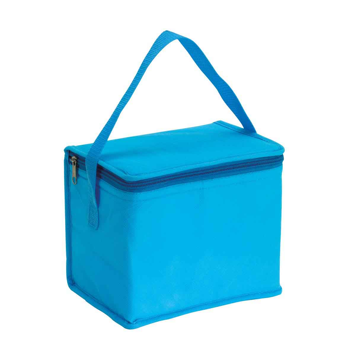 Cooler bag 'Celsius': with insulated zip pocket and carrying handle. - Light Blue ins-0801133