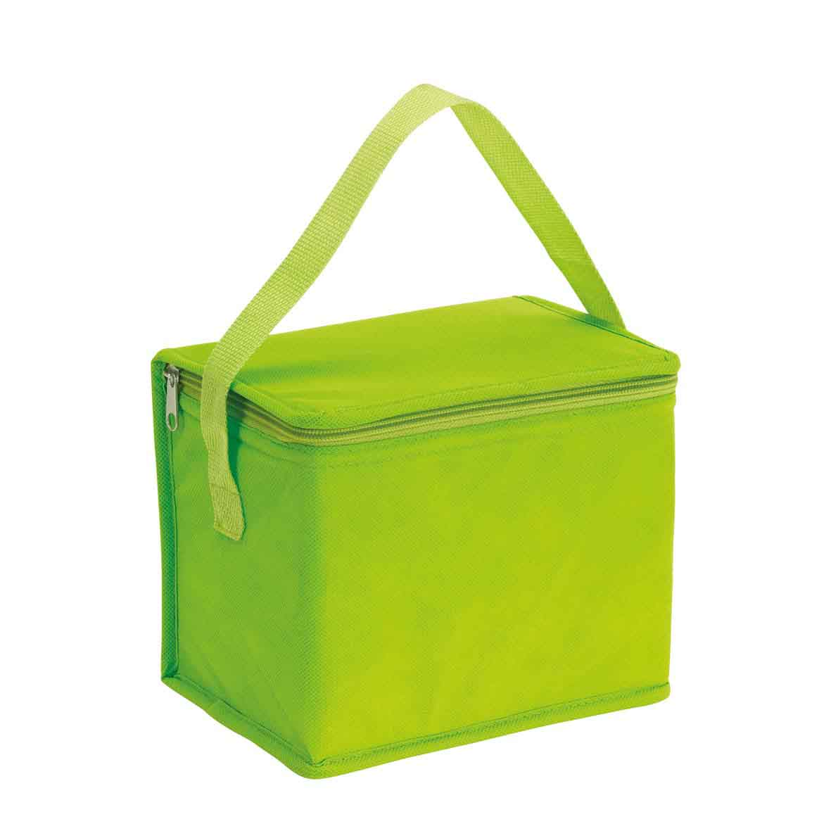 Cooler bag 'Celsius': with insulated zip pocket and carrying handle. - Light Green ins-0801134