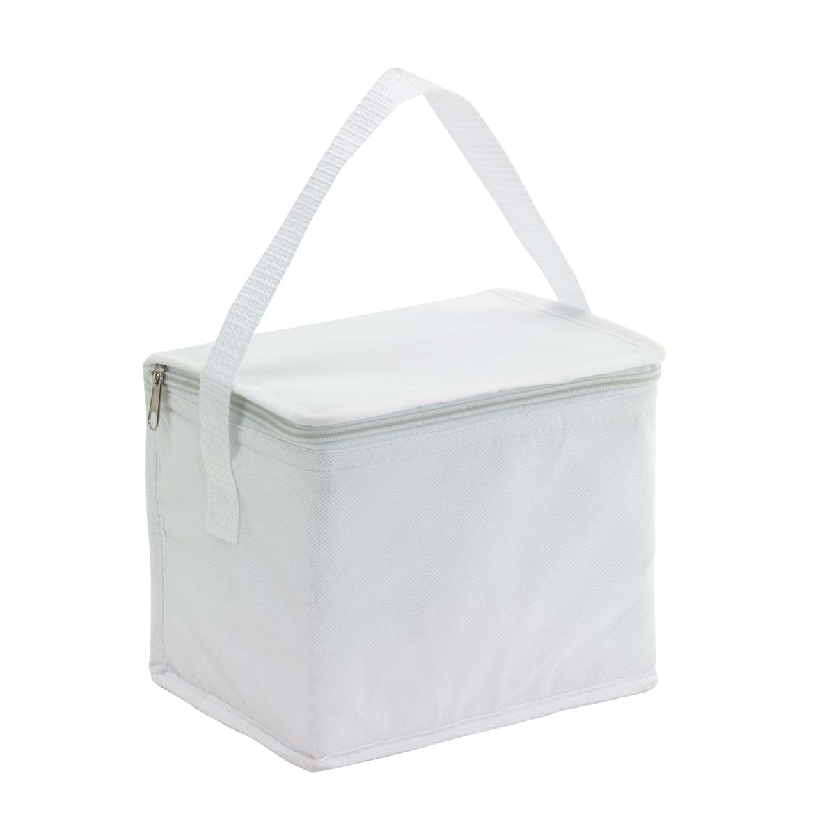 Cooler bag 'Celsius': with insulated zip pocket and carrying handle. - White ins-0801136
