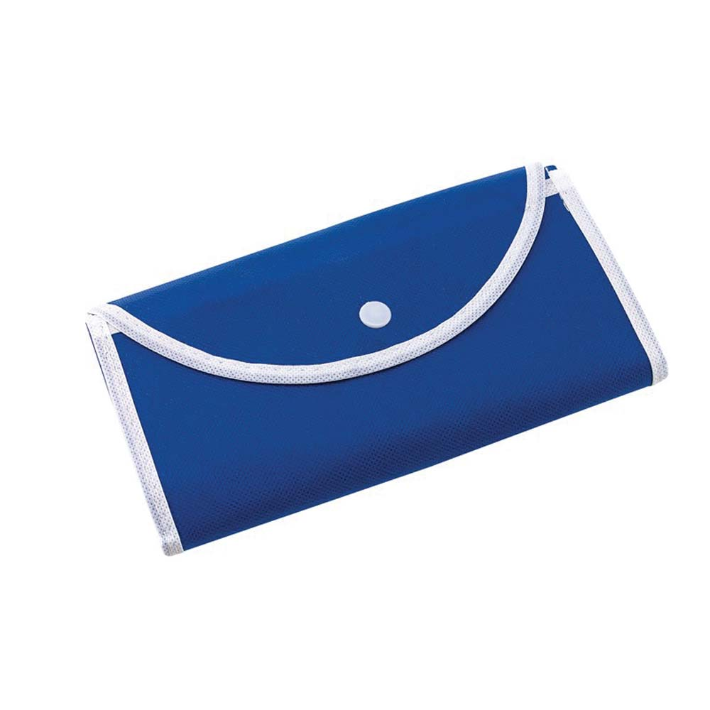 "Foldable polypropylene shopping bag ""Porto""with press button fastener. -Blue ins-0808062"