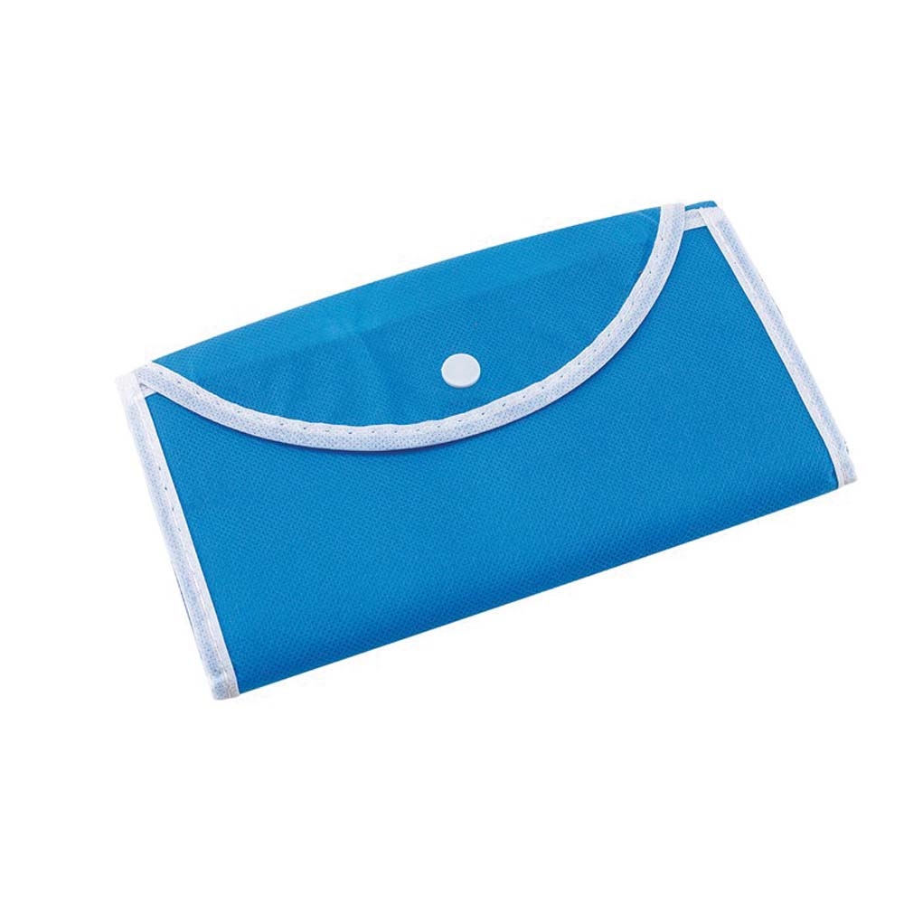 "Foldable polypropylene shopping bag ""Porto""with press button fastener. - Light Blue ins-0808064"