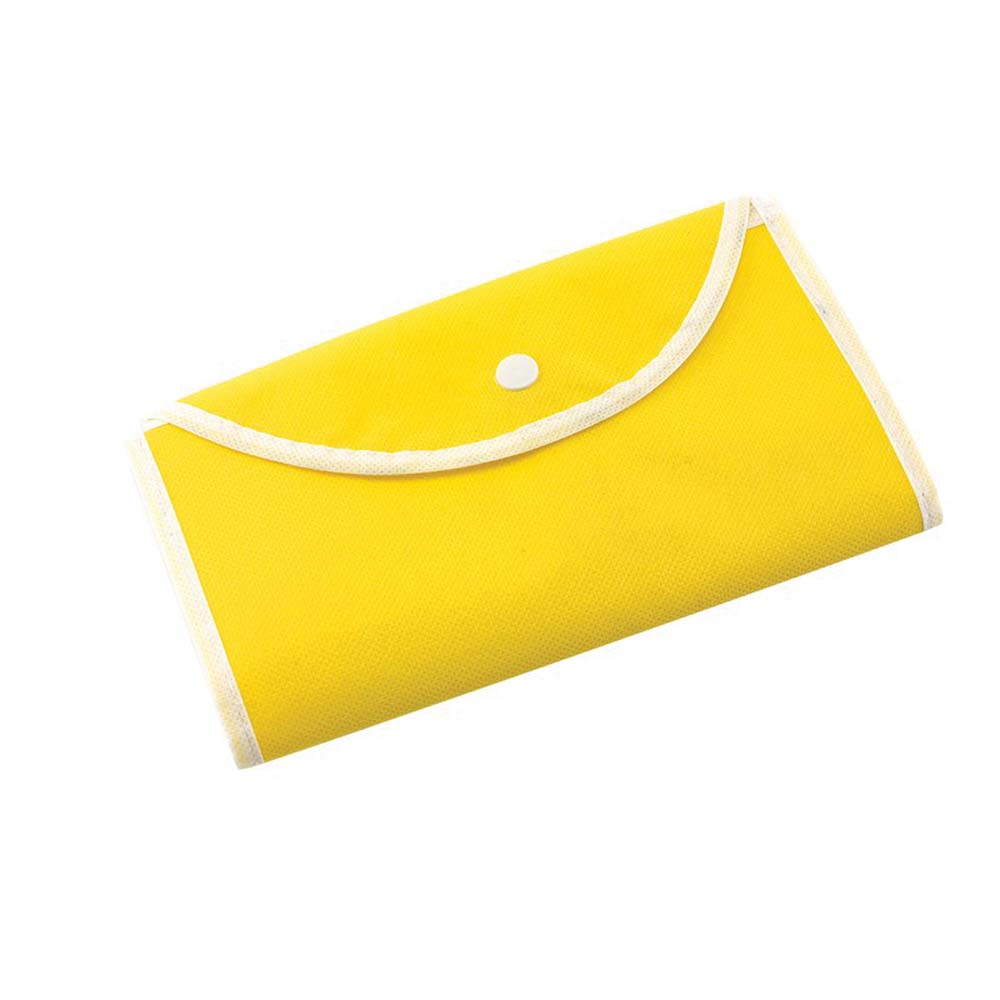 "Foldable polypropylene shopping bag ""Porto"" with press button fastener. -Yellow ins-0808066"