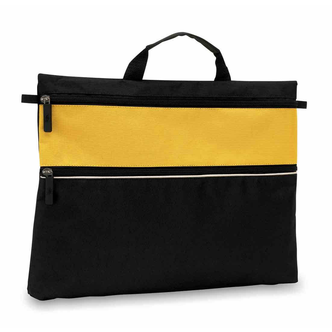 "Document bag ""File""  - black/yellow ins-0814517"
