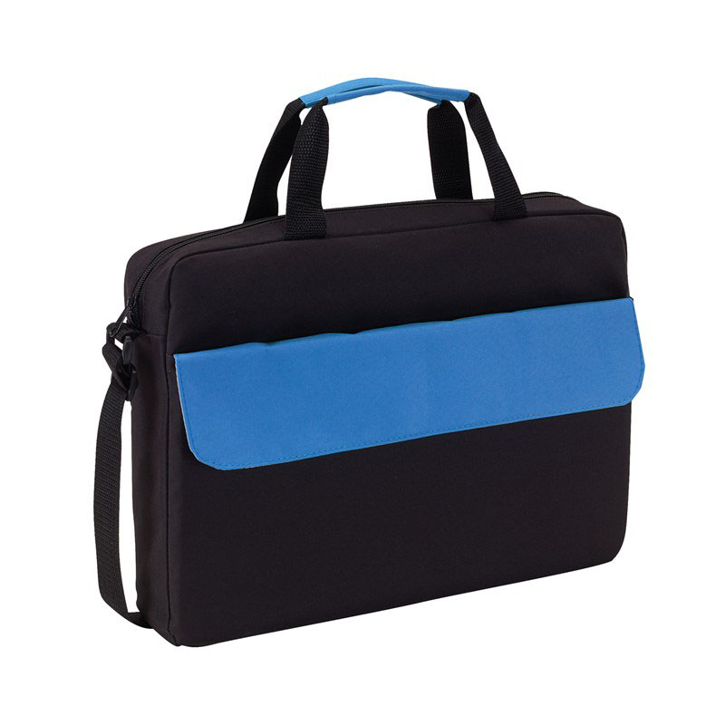 Document bag 'Bristol' - Black / Blue ins-0814562