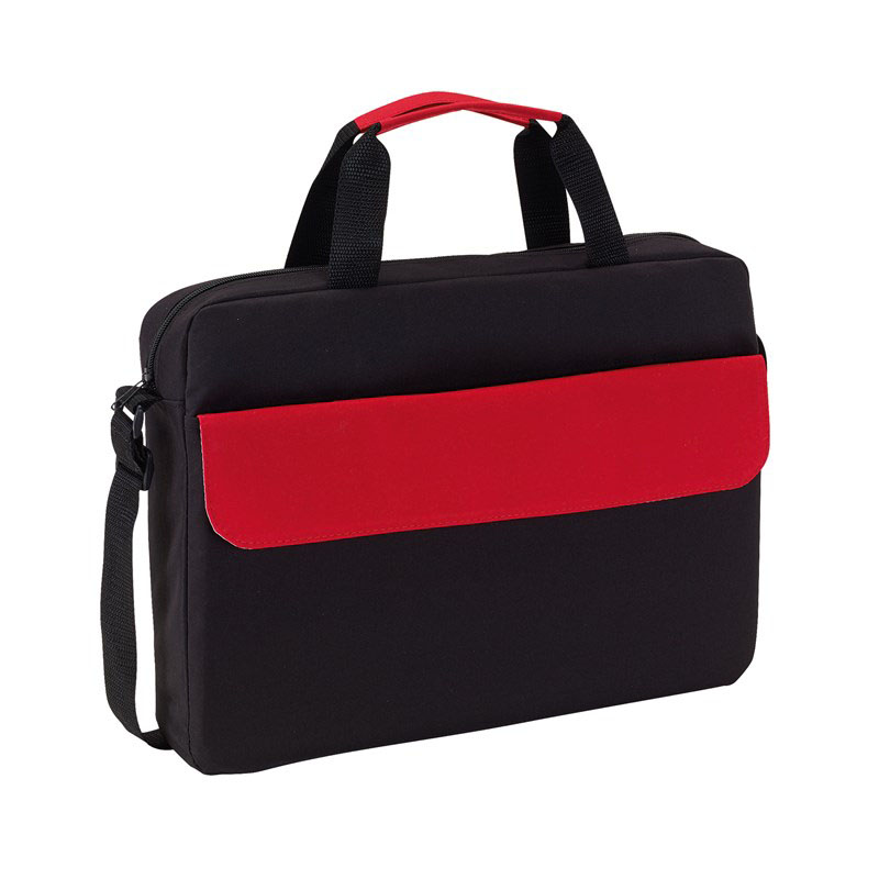 Document bag 'Bristol' - Black / Red ins-0814564